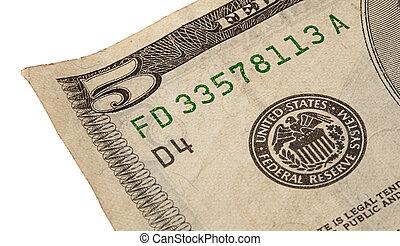 5, dollar