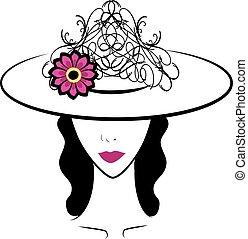 5, donna, cappello