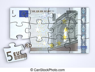5 Euro Note Puzzle - Top View