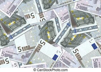5 Euro Notes Texture