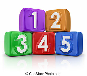 5 Five Principles Elements Basic Building Blocks Counting...