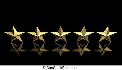5 golden star