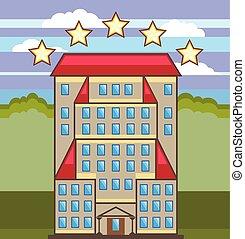 5, hôtel, étoile