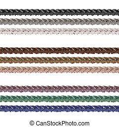5 - Haberdashery accessories. Decorative braided element of...