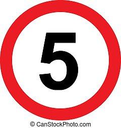 5, limitation, vitesse, panneaux signalisations