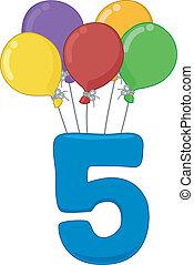 5, número