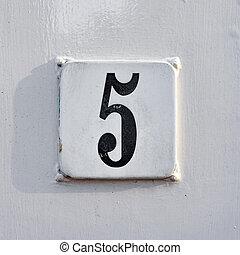 5, nombre