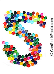 5 - number from the plastic caps