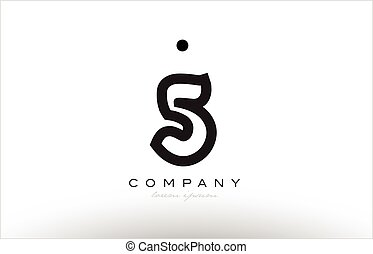 5 number logo icon template design