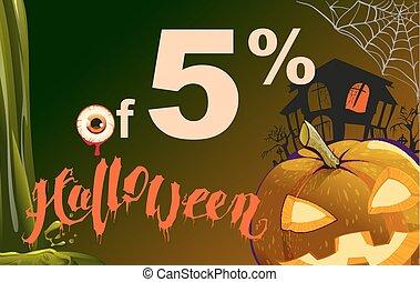 5 percent discount Halloween. Sales