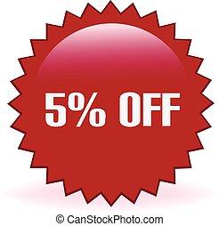 5 Percent Off Sticker