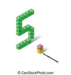 5 - Pixel Isometric Alphabet - Numbers