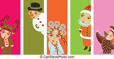 5 pop-art christmas design element