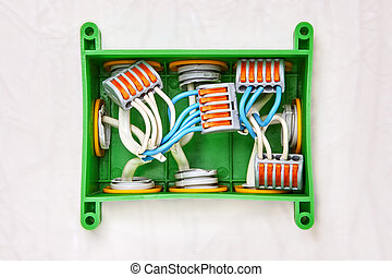 5 ports push lever terminal block wire connector. - Use of ...