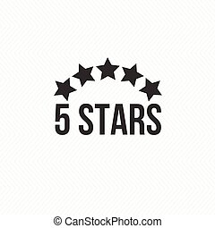 5 star icon vector illustration isolated badge for website...
