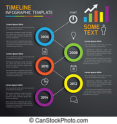 5-step, prozess, infographics