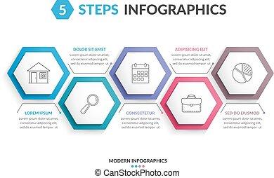 5 Steps Infographics