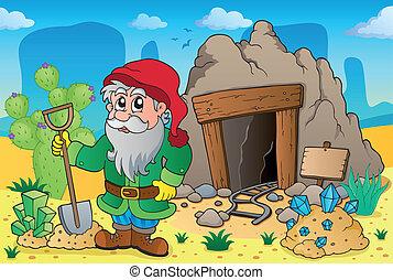 5, tema, vecchio, miniera, deserto