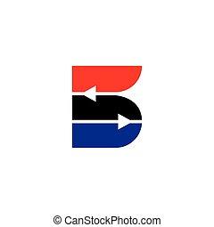 5, vecteur, flèche, logo, s, résumé, géométrique, nombre