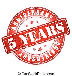 5 years anniversary stamp.