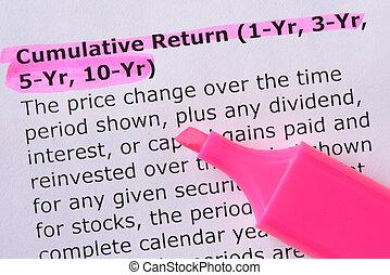 5-yr, cumulative, 3-yr, (1-yr, ritorno, 10-yr)