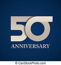 50, ペーパー, 年, 記念日, 数