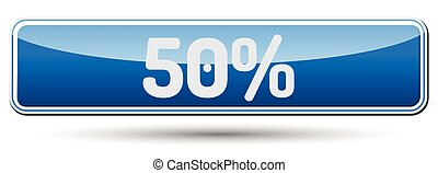 50% - Abstract beautiful button with text.