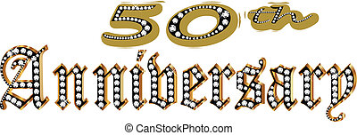 50 Anniversary in gold and diamonds