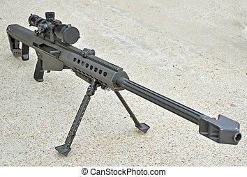 .50, calibre, franco-atirador, rifle