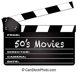 50, clapperboard, kino