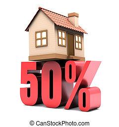 50%, de, habitación