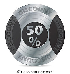 50% discount badge design