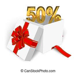 50% discount concept