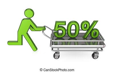 50% discount concept.