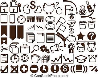 50, empresa / negocio, y, financiero, icono