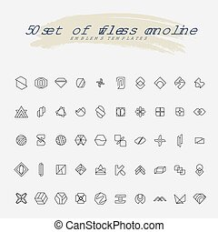 50 Flawless Monoline Emblem