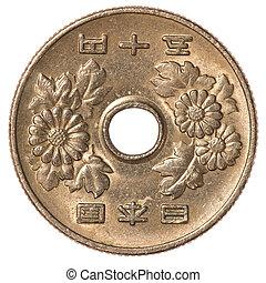 50, japanska yen, mynt