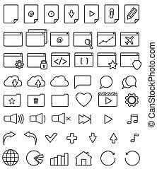 line icon set.