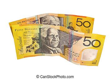 $50 notes - Australian $50 bills