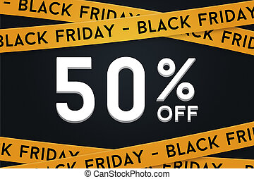 50 off Black Friday November Sale Graphic