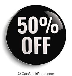 50% Off Discount Offer Black