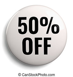 50% Off Discount Offer White