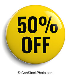 50% Off Discount Offer Yellow