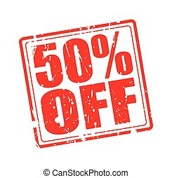 50% OFF red stamp text on white