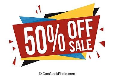 50% off sale banner design