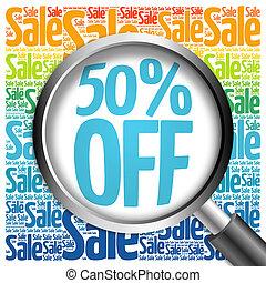 50% OFF sale word cloud