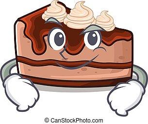 50, pastel de queso del chocolate