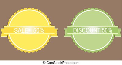 50 percent discount button