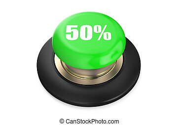 50 percent discount green button