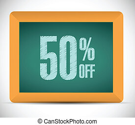 50 percent discount message illustration